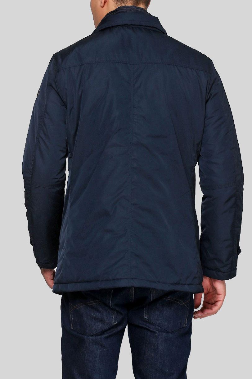 Однотонная куртка Trussardi Collection синего цвета