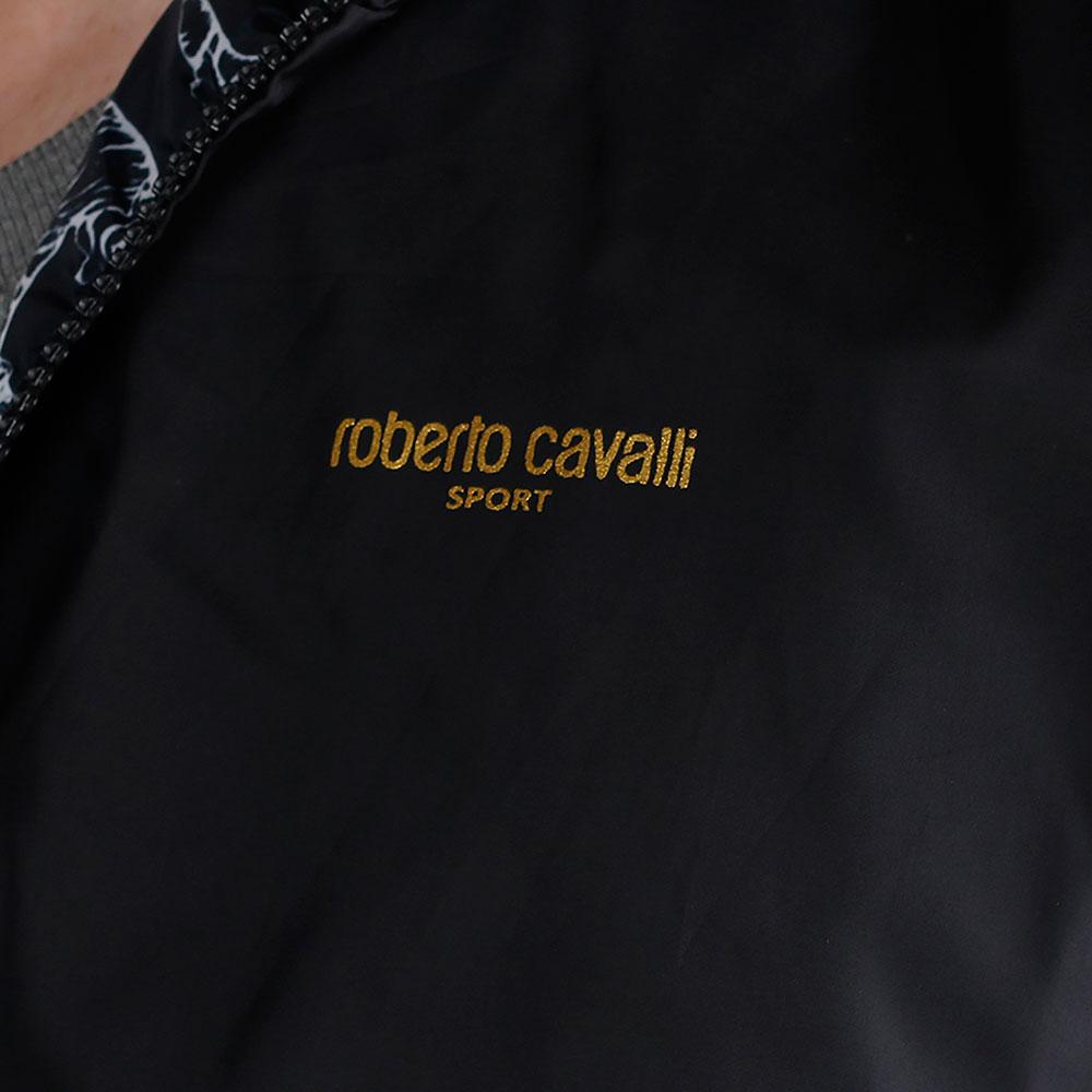 Черная ветровка Roberto Cavalli двухсторонняя