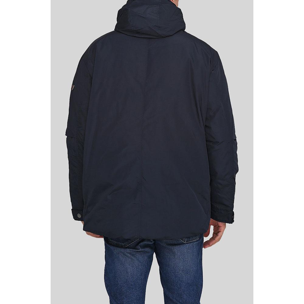 Синяя куртка Trussardi Collection с капюшоном
