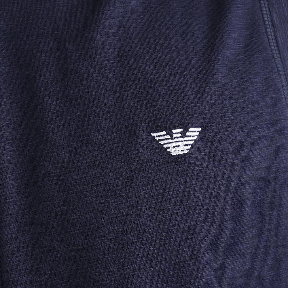 Синий жилет Emporio Armani с капюшоном