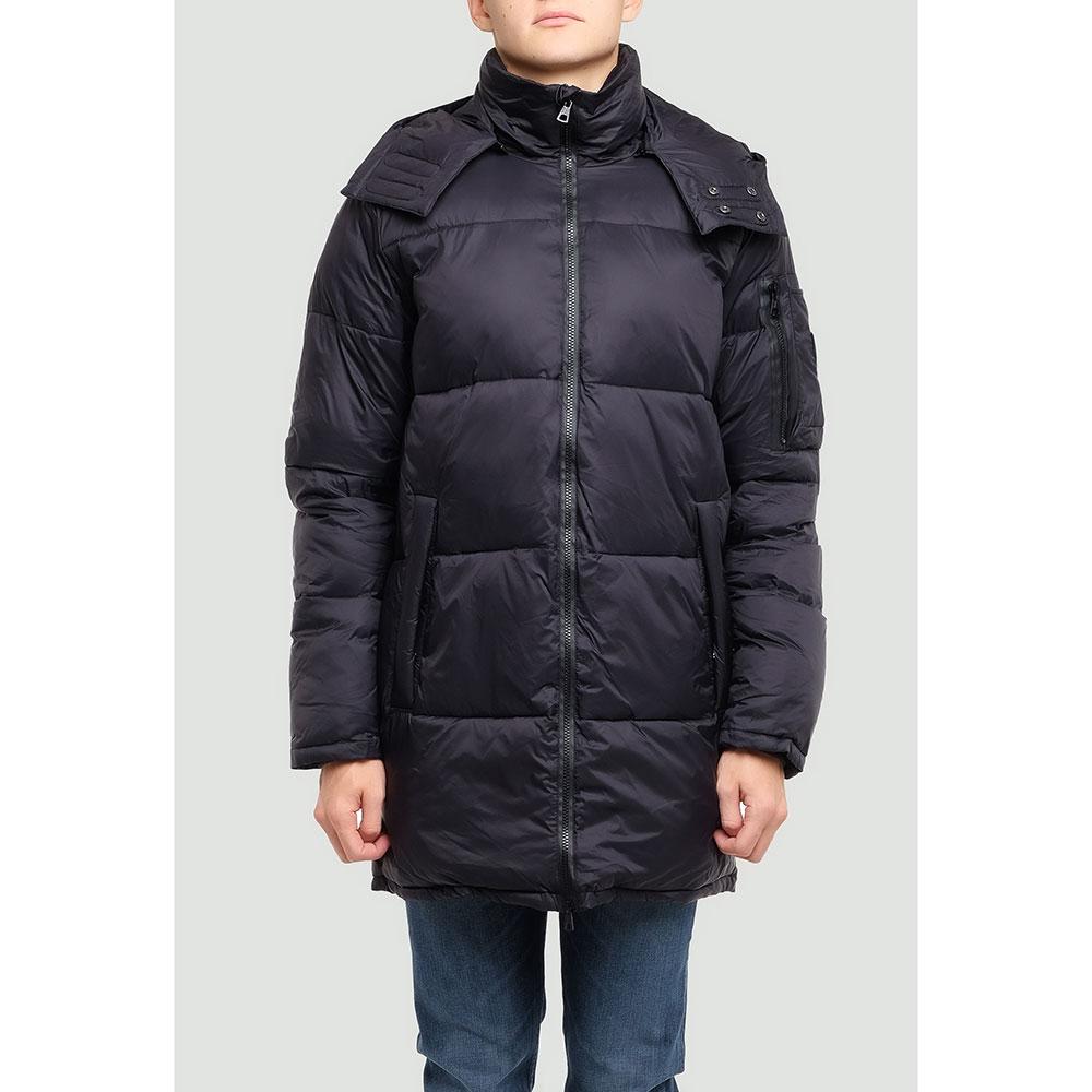 Черная куртка Ea7 Emporio Armani с капюшоном