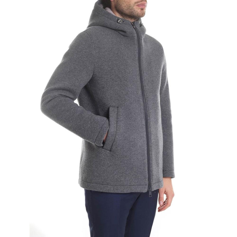 Серая куртка Herno прямого кроя