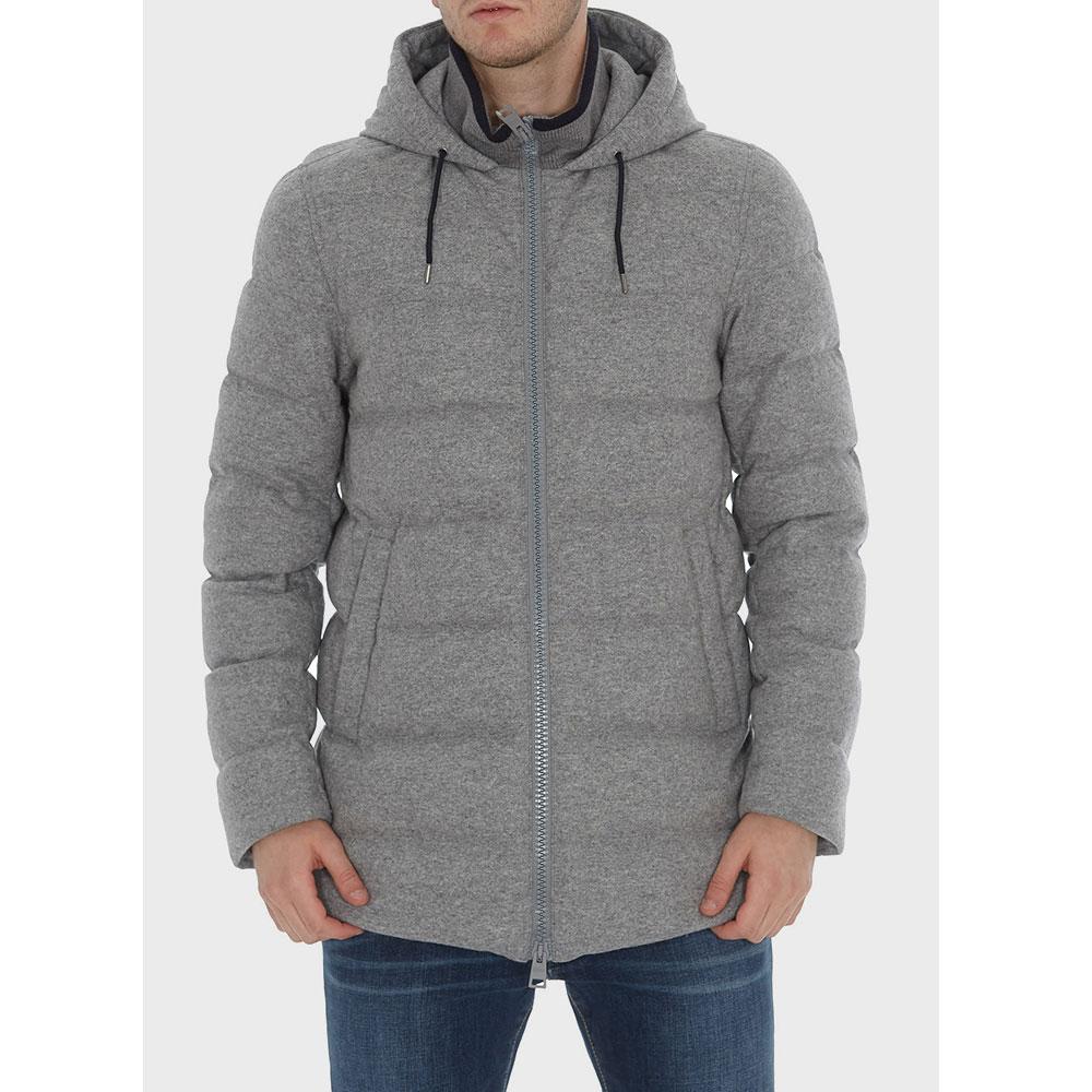Серая куртка Herno с воротником