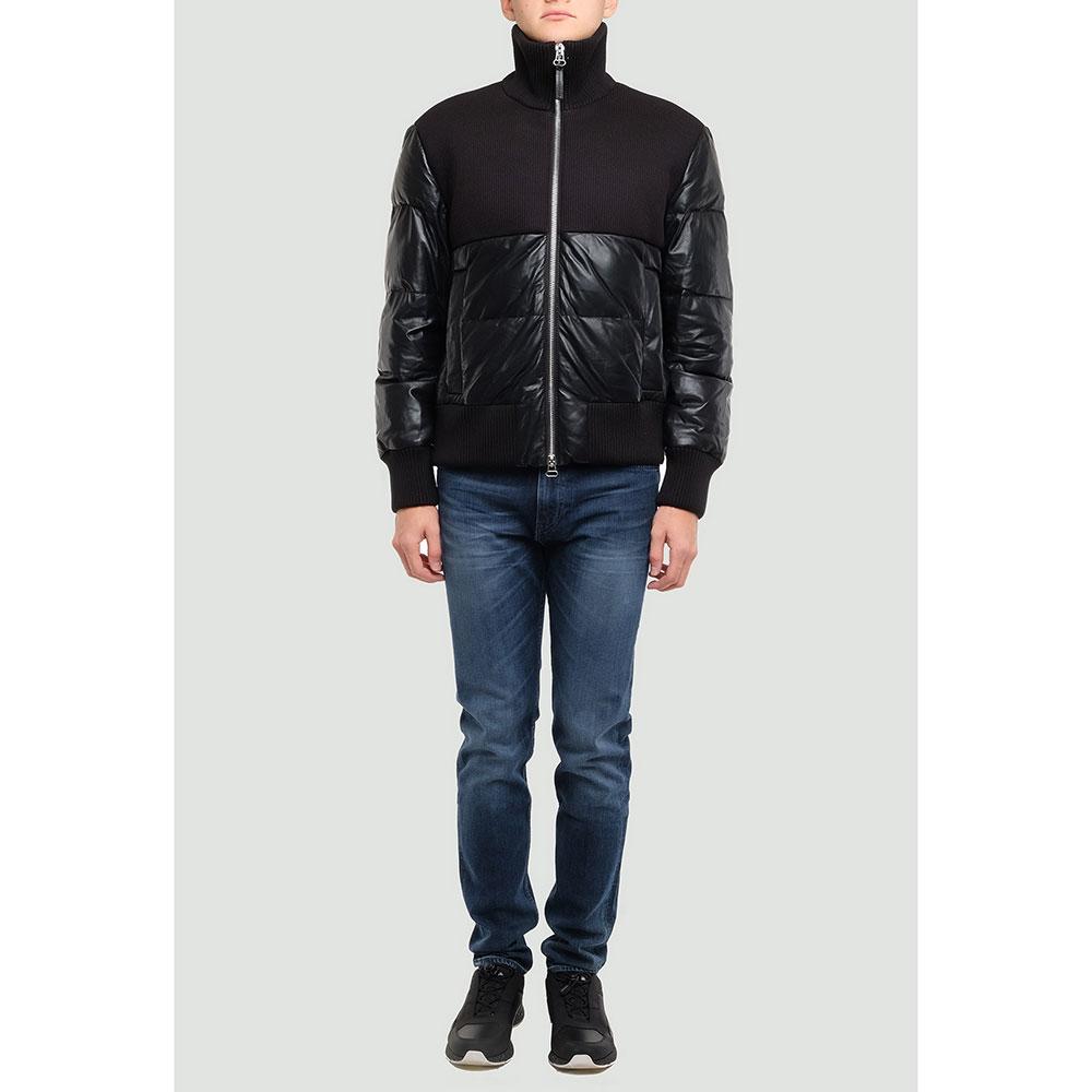 Черная куртка Hugo Boss с высоким воротником