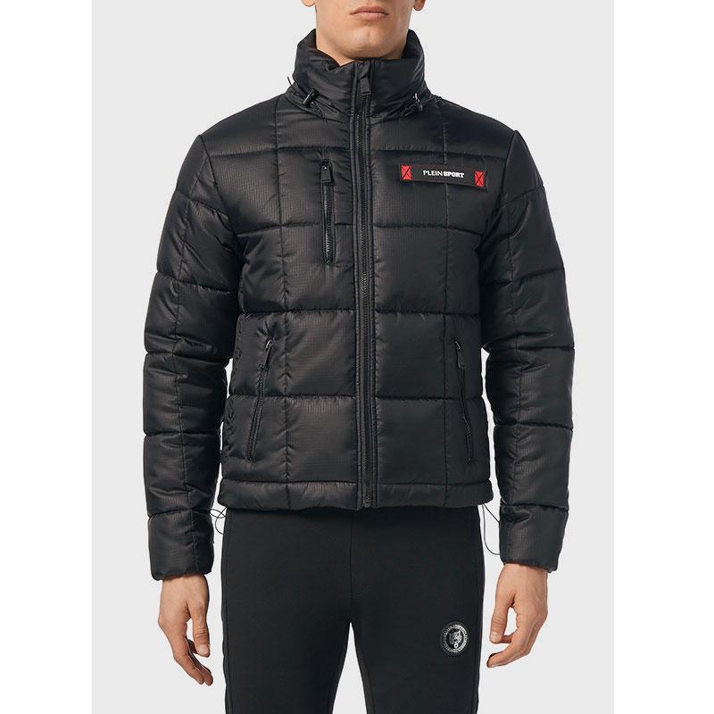 Стеганая куртка Philipp Plein Plein Sport черного цвета