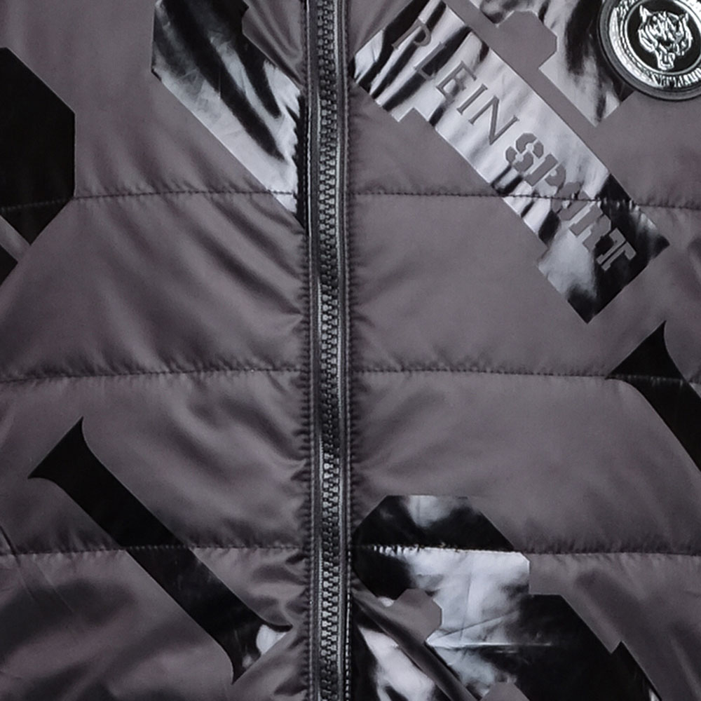 Черная куртка Philipp Plein Plein Sport с принтом