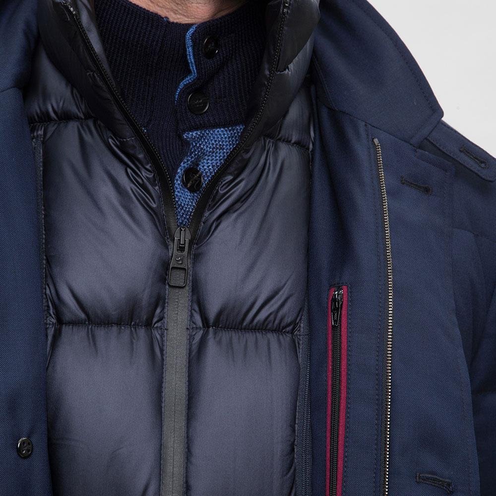 Синий пуховик Montecore с подкладкой на молнии