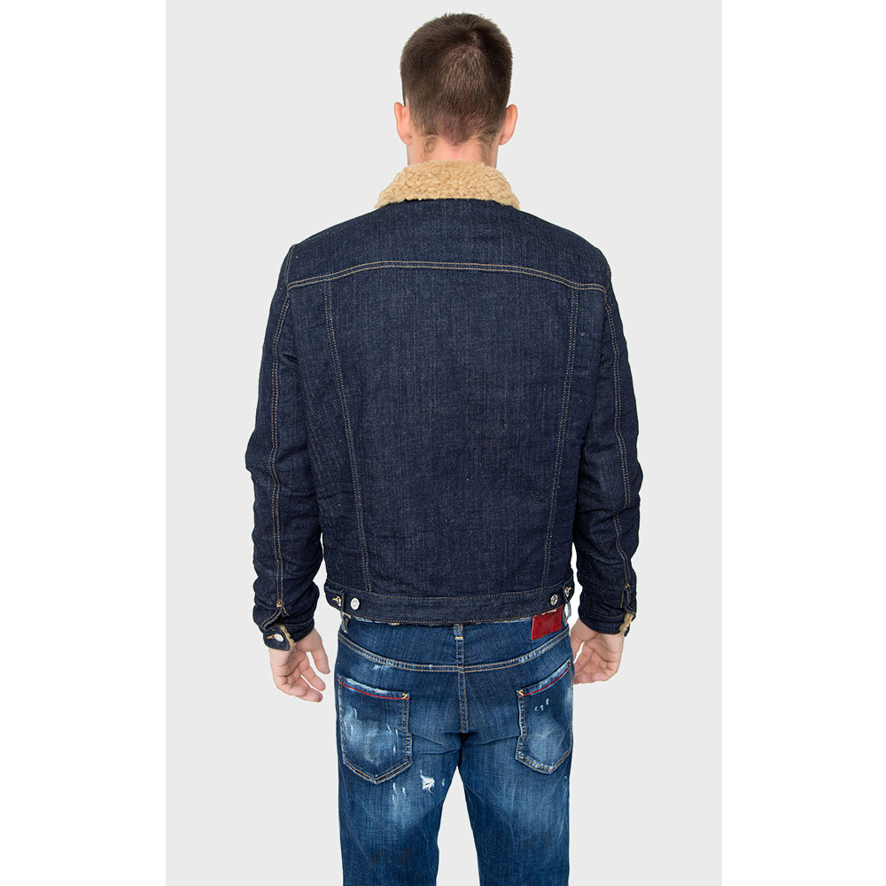 Джинсовая куртка Dsquared2 темно-синего цвета