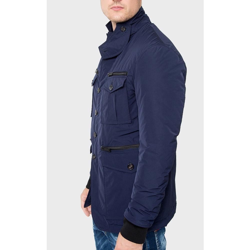 Однотонная куртка Dsquared2 синего цвета