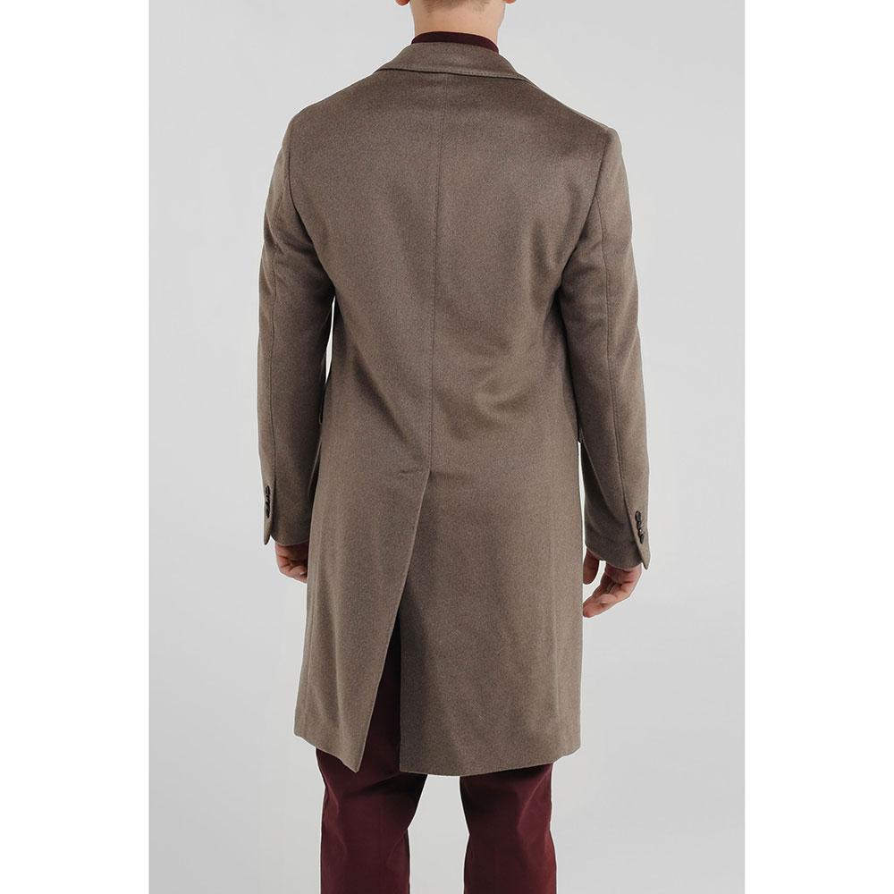 Кашемировое пальто Lardini коричневого цвета