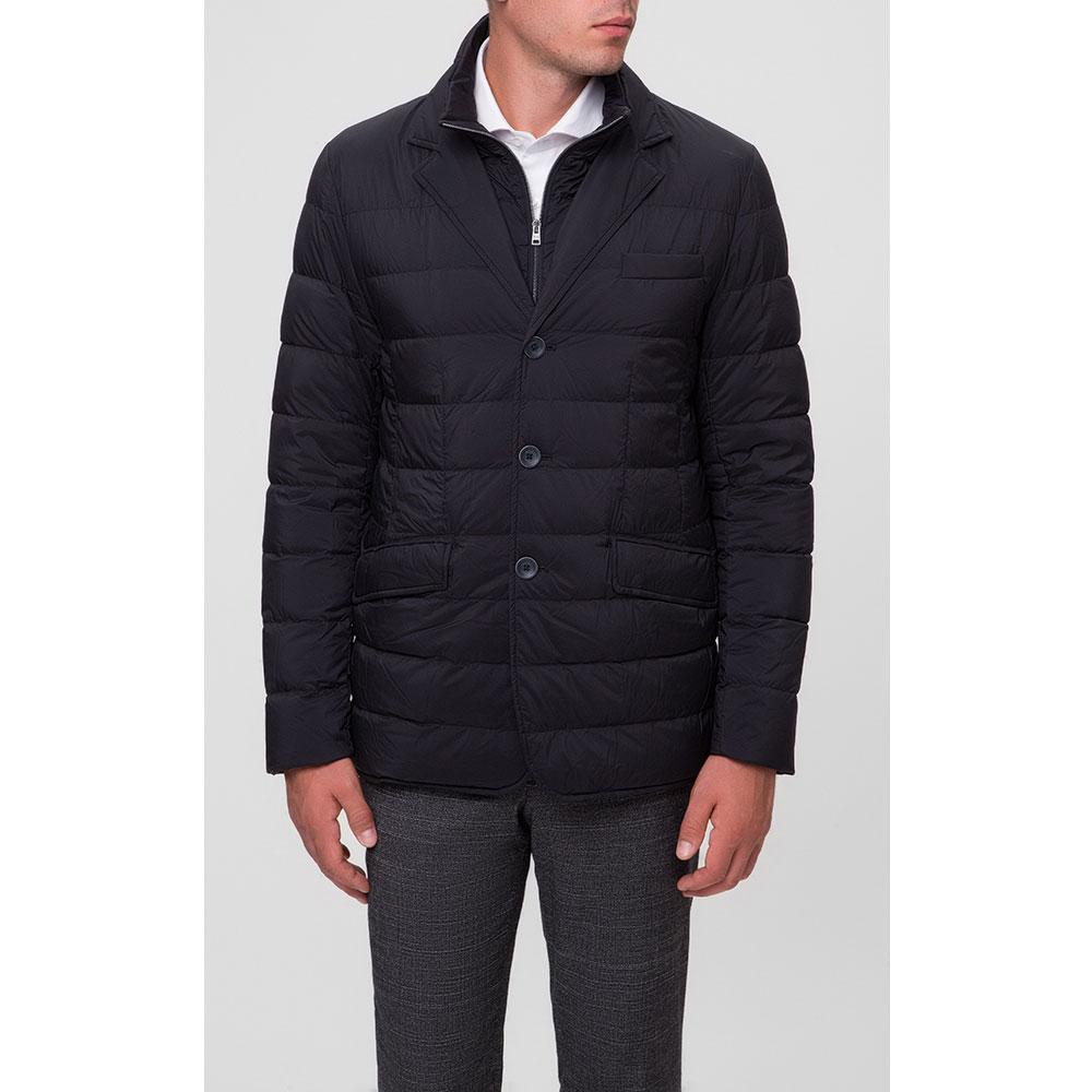 Темно-синяя куртка Herno на пуговицах