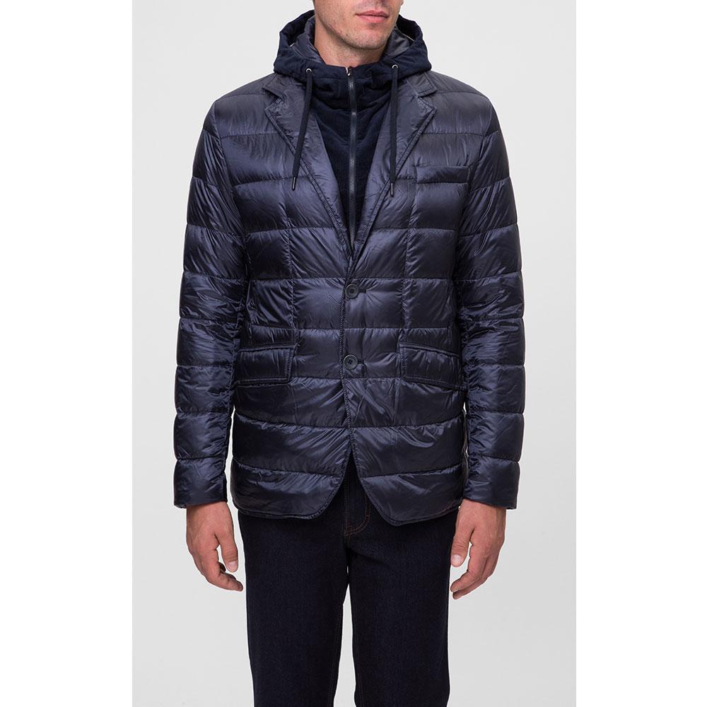 Темно-синяя куртка Herno в виде пиджака с подложкой