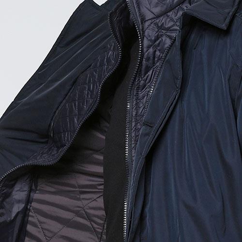 Однотонная куртка Trussardi Collection синего цвета, фото