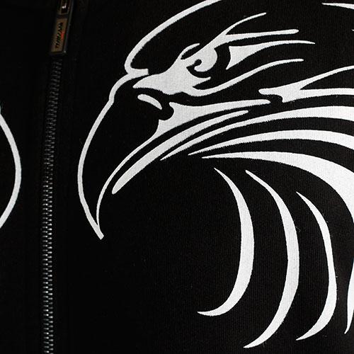 Черный бомбер Roberto Cavalli с принтом-орлами, фото