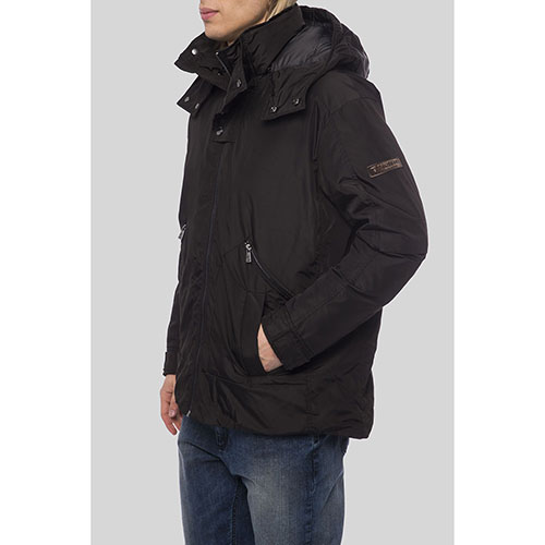 Черная куртка Trussardi Collection с капюшоном, фото