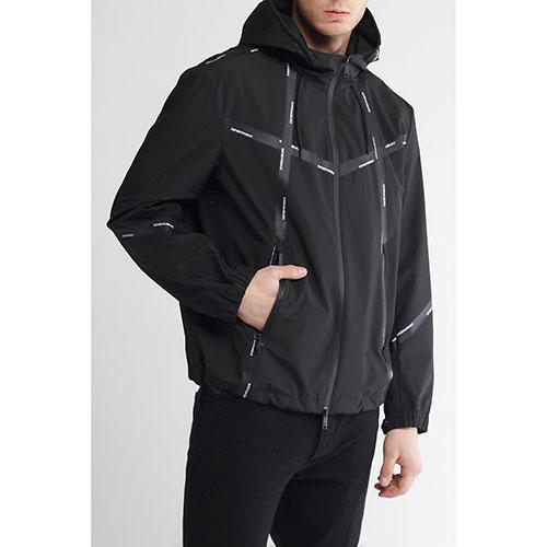 Мужская ветровка Emporio Armani черного цвета, фото
