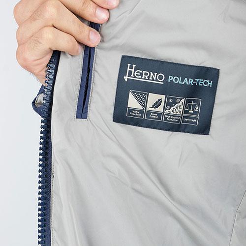 Стеганый пуховик Herno в синем цвете, фото