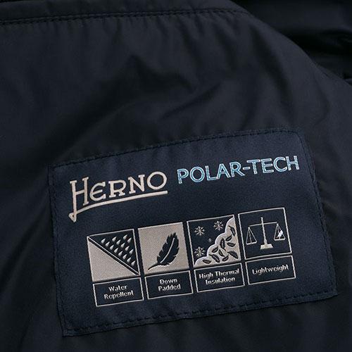 Синяя куртка Herno на молнии, фото