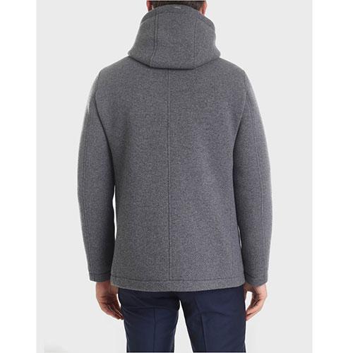 Серая куртка Herno прямого кроя, фото
