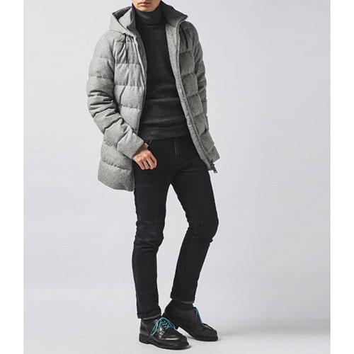 Серая куртка Herno с воротником, фото