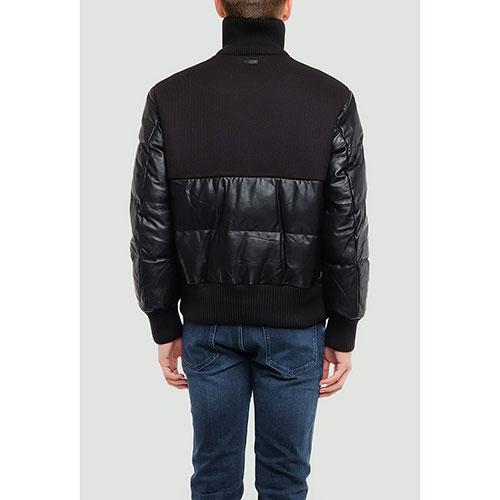 Черная куртка Hugo Boss с высоким воротником, фото