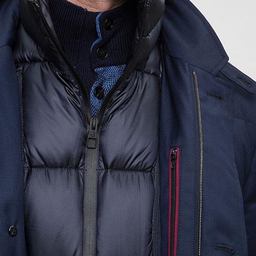 Синий пуховик Montecore с подкладкой на молнии, фото