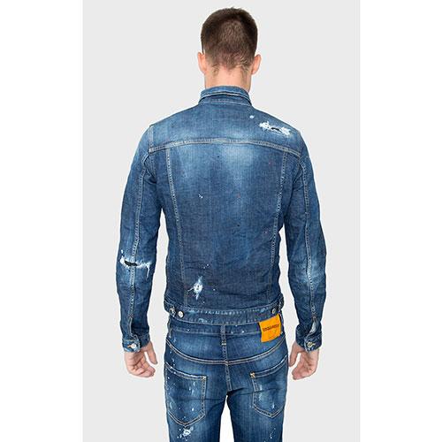 Джинсовая куртка Dsquared2 с эффектом капель краски, фото