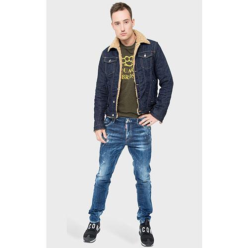 Джинсовая куртка Dsquared2 темно-синего цвета, фото