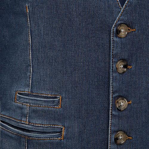 Джинсовый жилет Eleventy на пуговицах, фото