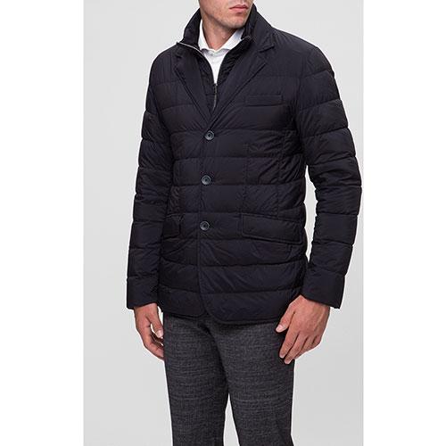 Темно-синяя куртка Herno на пуговицах, фото