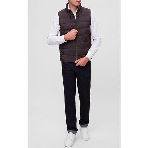 Коричневый жилет Herno с карманами на молнии, фото