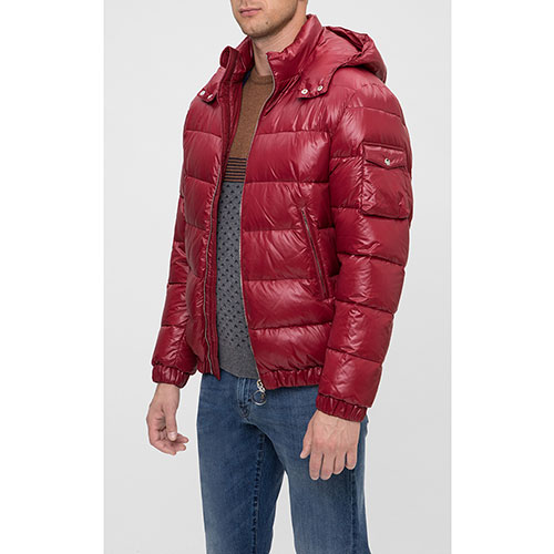 Куртка красного цвета Eleventy с накладным карманом на рукаве, фото