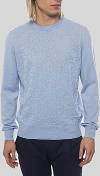 Шерстяной джемпер Billionaire голубого цвета, фото