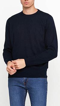 Темно-синий джемпер Azzaro из шерсти, фото