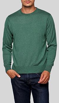 Кашемировый джемпер Balmain зеленого цвета, фото