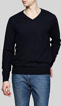 Шерстяной пуловер Balmain темно-синего цвета, фото