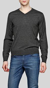 Пуловер из шерсти Balmain в сером цвете, фото