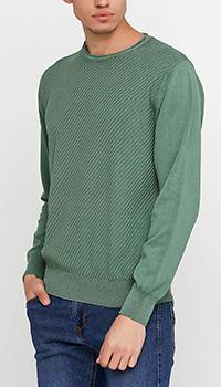 Джемпер Cashmere Company из хлопка зеленого цвета, фото