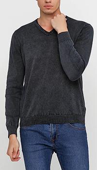 Пуловер из хлопка Cashmere Company черного цвета, фото