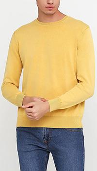 Желтый джемпер Cashmere Company с манжетами, фото