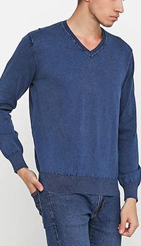 Хлопковый пуловер Cashmere Company с манжетами, фото
