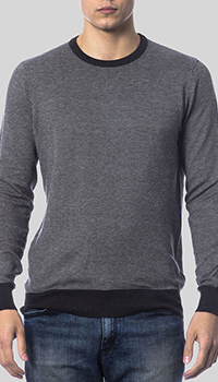 Серый джемпер Balmain с черной окантовкой, фото