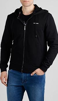 Черная толстовка Roberto Cavalli с крупным принтом, фото