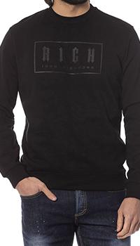 Мужской свитшот John Richmond черного цвета, фото