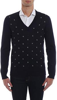 Синий пуловер Gucci с принтом, фото
