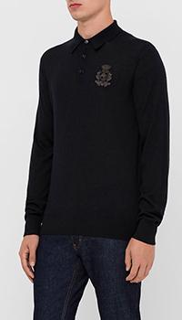 Кашемировый джемпер Dolce&Gabbana с вышитым гербом, фото
