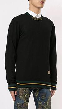 Черные джемпер Dolce&Gabbana с вышитыми деталями, фото