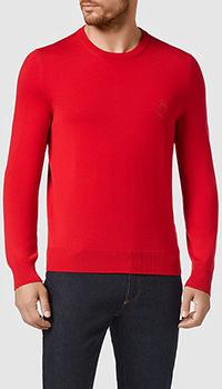 Мужской джемпер Billionaire Crest красного цвета, фото