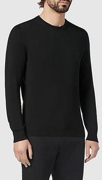 Шерстяной джемпер Billionaire черного цвета, фото