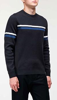 Темно-синяя кофта Bogner с полосой, фото